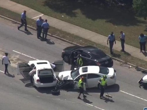 Police investigating crash and chase in Raleigh