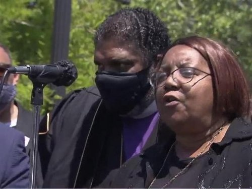 'Release the tapes!' Protesters march in Elizabeth City after judge restricts bodycam footage for Brown's family