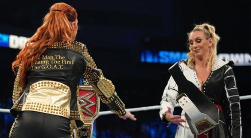 Backstage confrontation between Becky Lynch and Charlotte Flair after WWE SmackDown