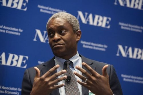 Fed's Bostic Says Bond Buying Drawdown Near, Sees Rate Rise in Late 2022