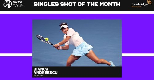 March Shot of the Month winners: Andreescu, Carter come up big