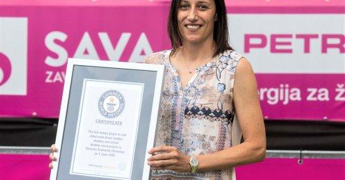 Guinness World Records recognizes Srebotnik's historic accomplishment