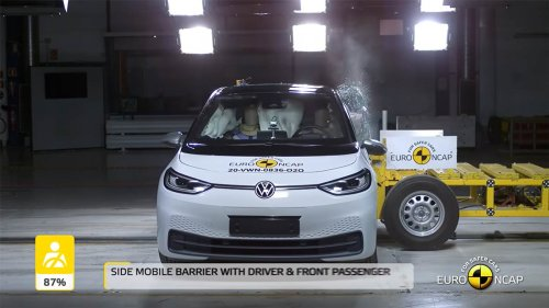 Volkswagen ID.3 scores 5-Stars in Euro NCAP crash safety tests (video, Model 3 comparison)