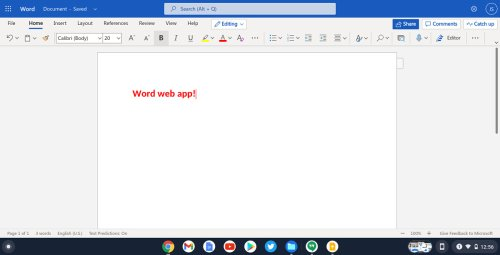 Does Microsoft Office work on a Chromebook?