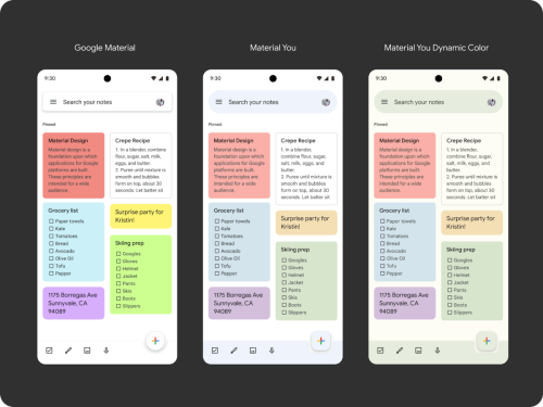 Material You support will soon roll out to Google Keep