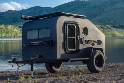 This all-electric off-road teardrop trailer redefines the luxury of your camping experience!