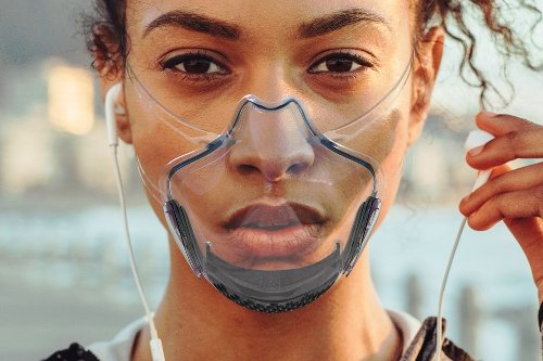 World's first transparent FDA registered, N99+ smart mask with UV-C sterilizing that shows-off your smile