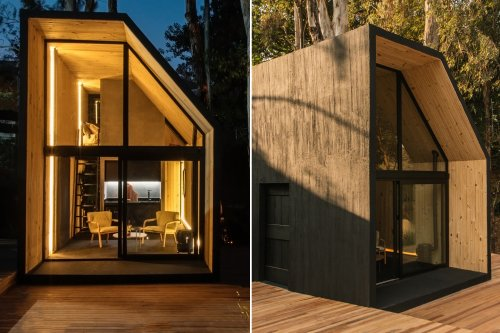 This cabin can easily transported to remote places & reduces construction carbon emissions!
