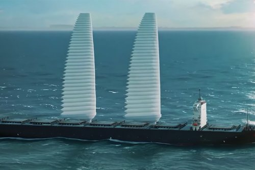 Michelin debuts inflatable sail system to decarbonize the global maritime industry, providing freight ships with clean wind energy!