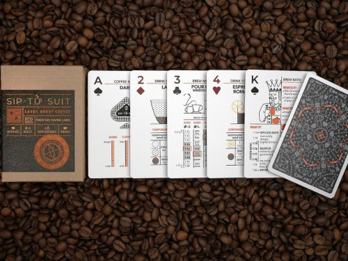 These playing cards also act as instruction guides to help you brew better coffee!