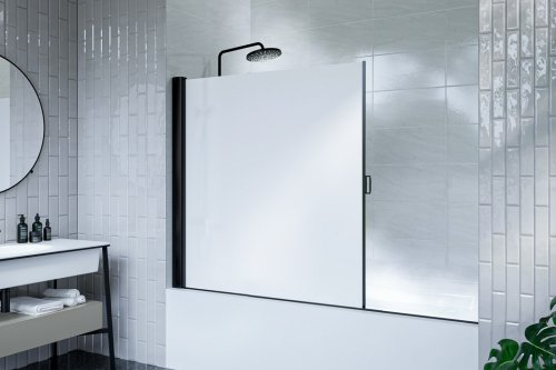 Meet the world's most compact, mold-proof, and water-tight rolling shower screen!