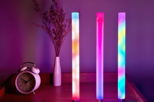 """This """"Lava lamp on steroids"""" can light up your space in any color or gradient you can imagine!"""