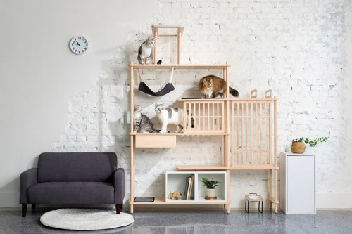 This minimal and modular cat tree perfectly meets the needs of your pet, your home and you!