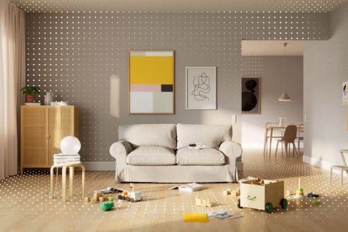 IKEA + Apple redesigned their AR app, improving user experience and playing with your interior styling!