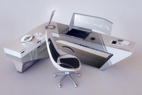 Porsche's sleek design language is the inspiration behind this futuristic work desk!