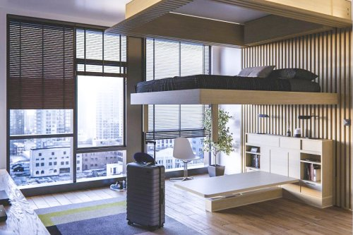 This transforming robotic furniture going from bed to home office desk is the 2021 investment we need!