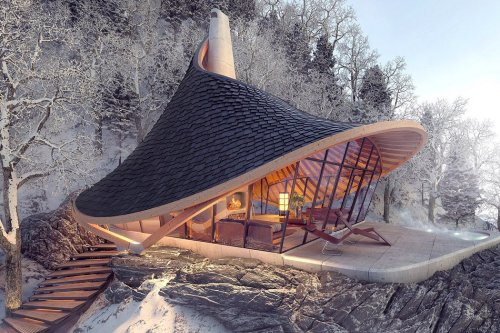 Cabin Designs that merge with their surrounding forests to provide you the perfect escapism from city life!