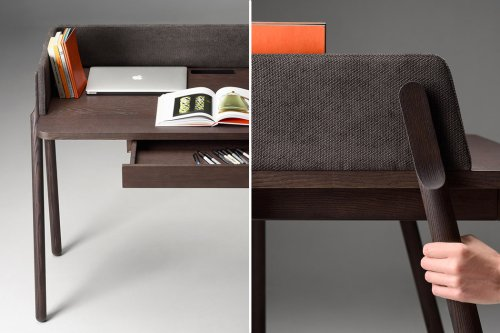 This detailed desk design provides privacy while you work, and we wish IKEA got inspired by it!