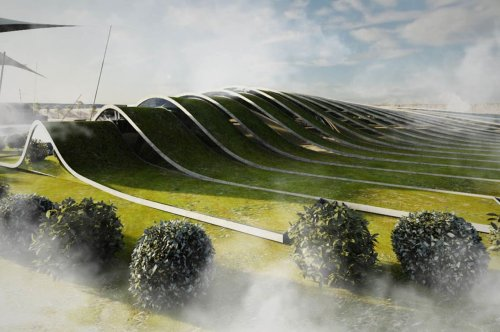 The rolling green roof of this modern art museum was built with to merge art preservation with futuristic technology!