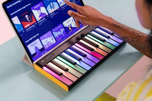 Roli's LUMI keyboard turns playing music into a bright, colorful, audiovisual affair!
