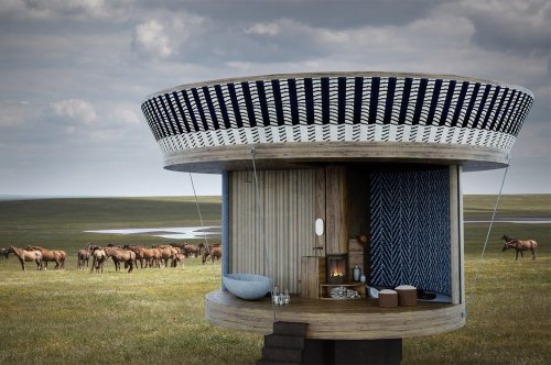 This tiny home is actually a sustainable luxury cabin that can be configured in 20 different ways!