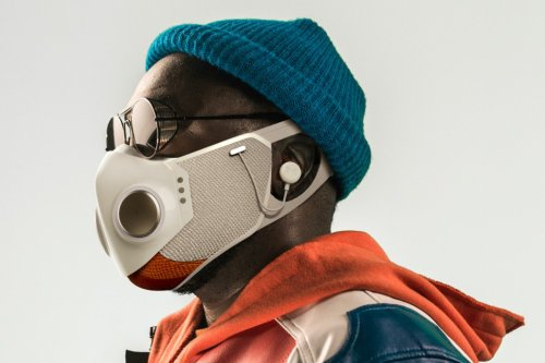 Honeywell and rapper Will.i.am just debuted a futuristic face-mask with built-in wireless earphones