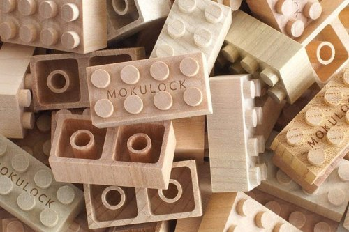 The sustainable alternative to LEGO are these building blocks entirely carved from timber