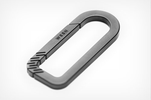 Machined from a single piece of titanium, WESN's Carabiner promises to last a lifetime
