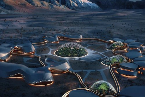 Space Architecture designed to be a home to the future humans living on Mars!