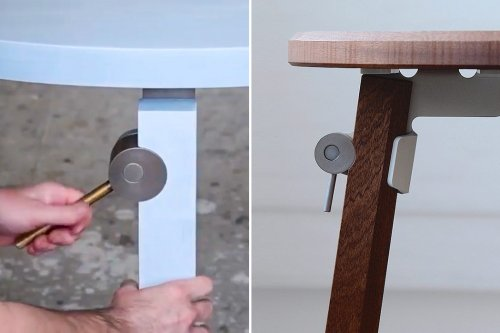 This circular lever makes easy-assembly furniture much easier. Watch the video!