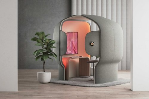 Microsoft's office pod creates a private working space to help you get away from the noise!