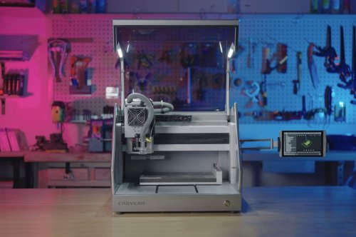 This tiny desktop CNC machine with lathe and laser modules puts powerful fabricating tools right at your fingertips