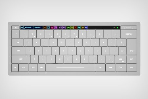 This Adobe wireless keyboard puts its entire creative software suite right under your fingertips