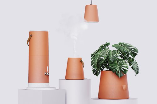 This clay humidifier, filter, lamp and planter is inspired from sustainable Brazilian traditions!