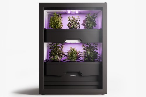 This indoor vertical farm uses LED lights + plant pods to cultivate more sustainable lifestyles!