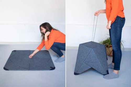 This rug doubles up as seating – we can't get enough it's transforming furniture design!