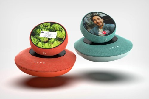 The Google Nest Audio smart-speaker gets its own detachable Walkie-Talkie with a touch display