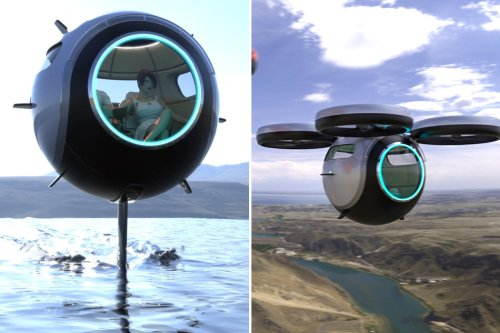 This ultra-light carbon fiber sphere can fly, run on land and float on water!
