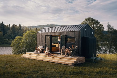 This wooden tiny house on wheels is designed to get you closer to nature while being sustainable!