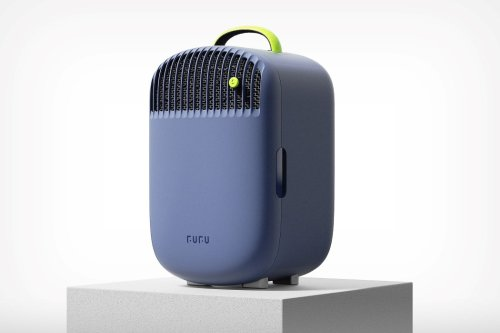 Summers just became more bearable thanks to this portable air conditioner with a built-in mini fridge