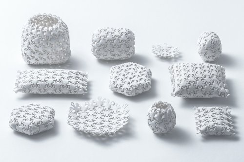 This modular packaging is inspired by how various atoms link together to form different materials!