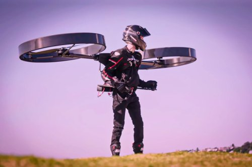 This highly maneuverable rotor jetpack takes you one step closer to your Iron Man suit!