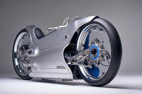 This futuristic custom e-bike comes with organic 3D-printed details and transparent wheel-rims!