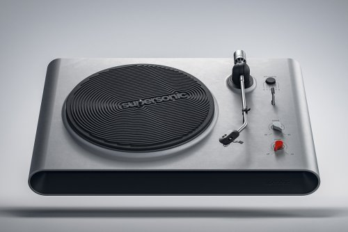 This Supersonic Turntable's aesthetics are inspired by the current brutalist architecture trend!