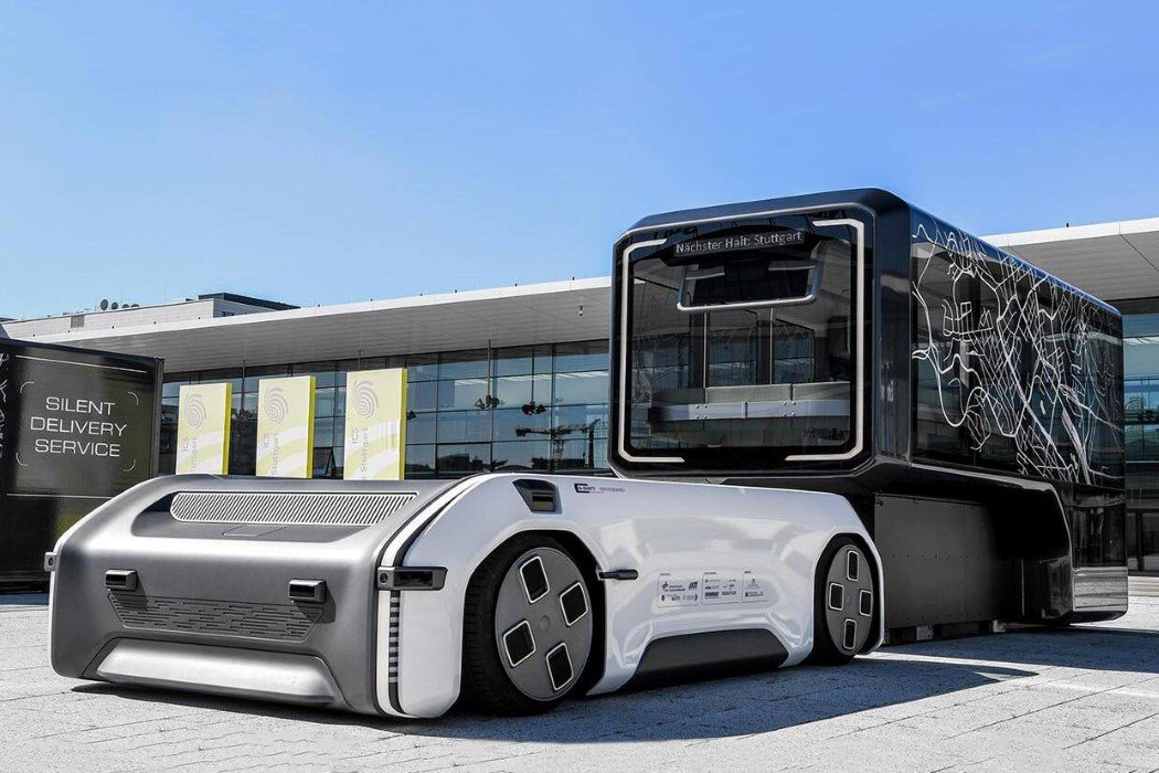 This modular electric platform can pull any vehicle attached to it… like a futuristic horse