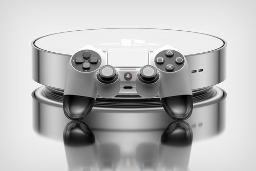 """PlayStation 5 """"Pro"""" edition concept looks like a shiny Roomba-shaped gaming console"""