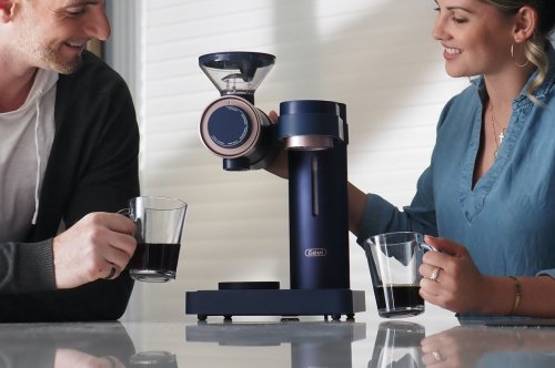 This sleek coffee grinder and brewer gives you coffee so fresh, you'll want to dump your Keurig