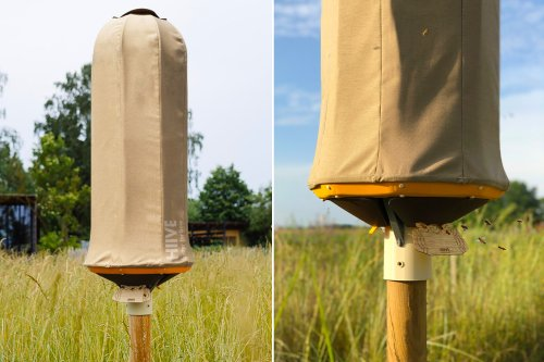 This sustainable beehive is designed to replicates the microclimate of the bee's natural habitat!