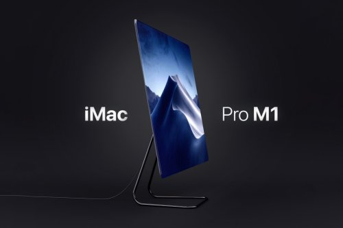 Here's what the M1 iMac would look like if Apple ditched the white bezels and large chin for a 100% display