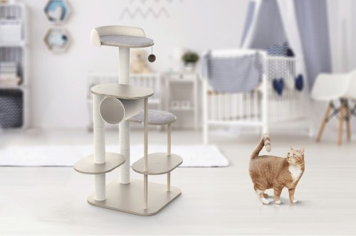 This modular cat-tree can be any shape/style you want, with a customizable design that's like IKEA for cats